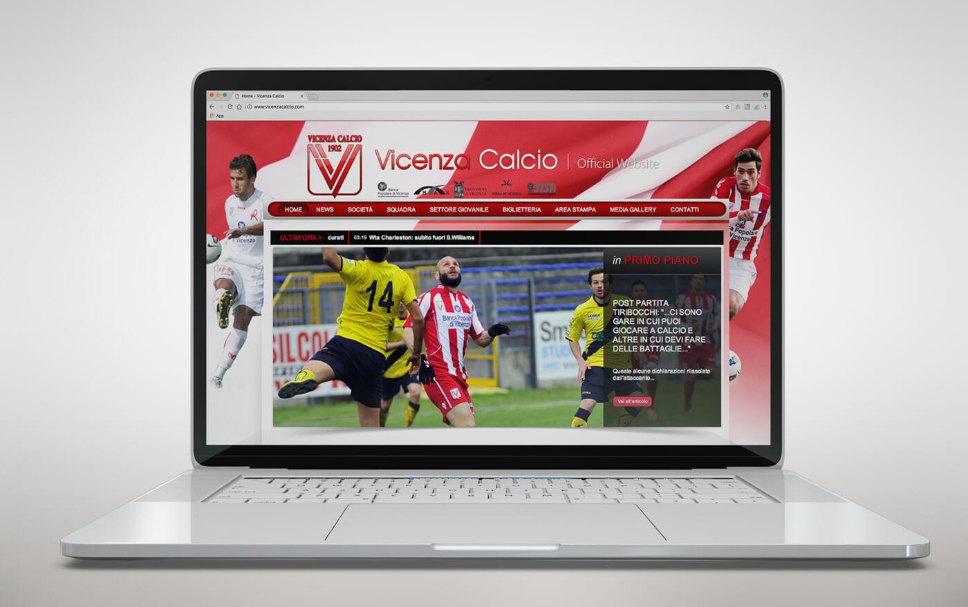 web design Vicenza Calcio - KF ADV web agency Vicenza