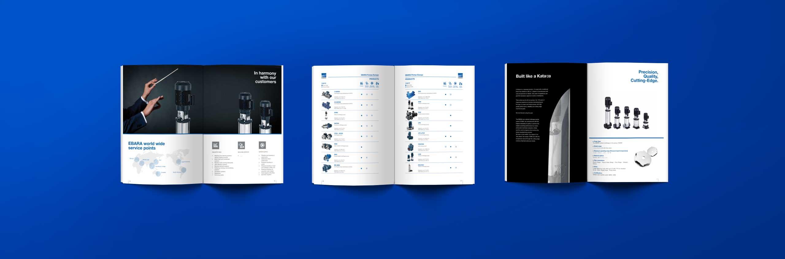 cataloghi Ebara - KF ADV agenzia di comunicazione Vicenza