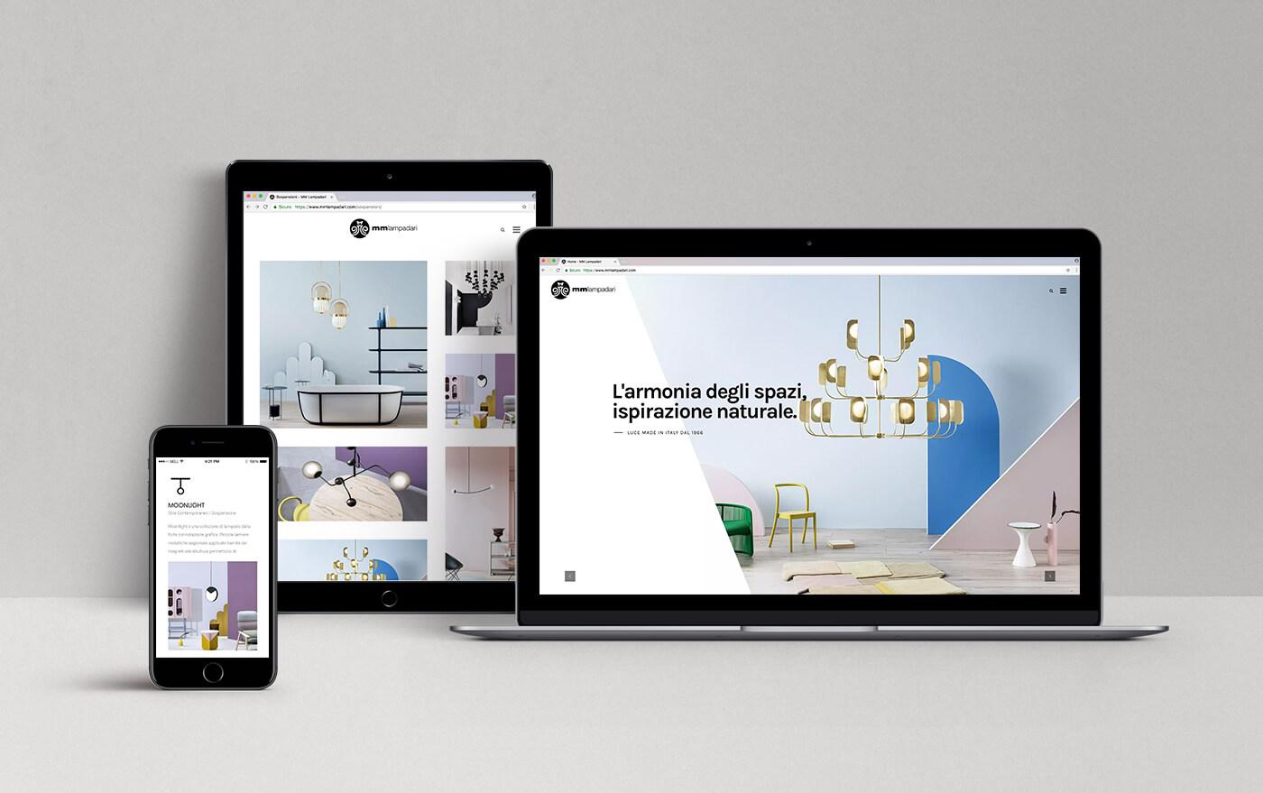 web design settore illuminazione - KF ADV agenzia di comunicazione Vicenza